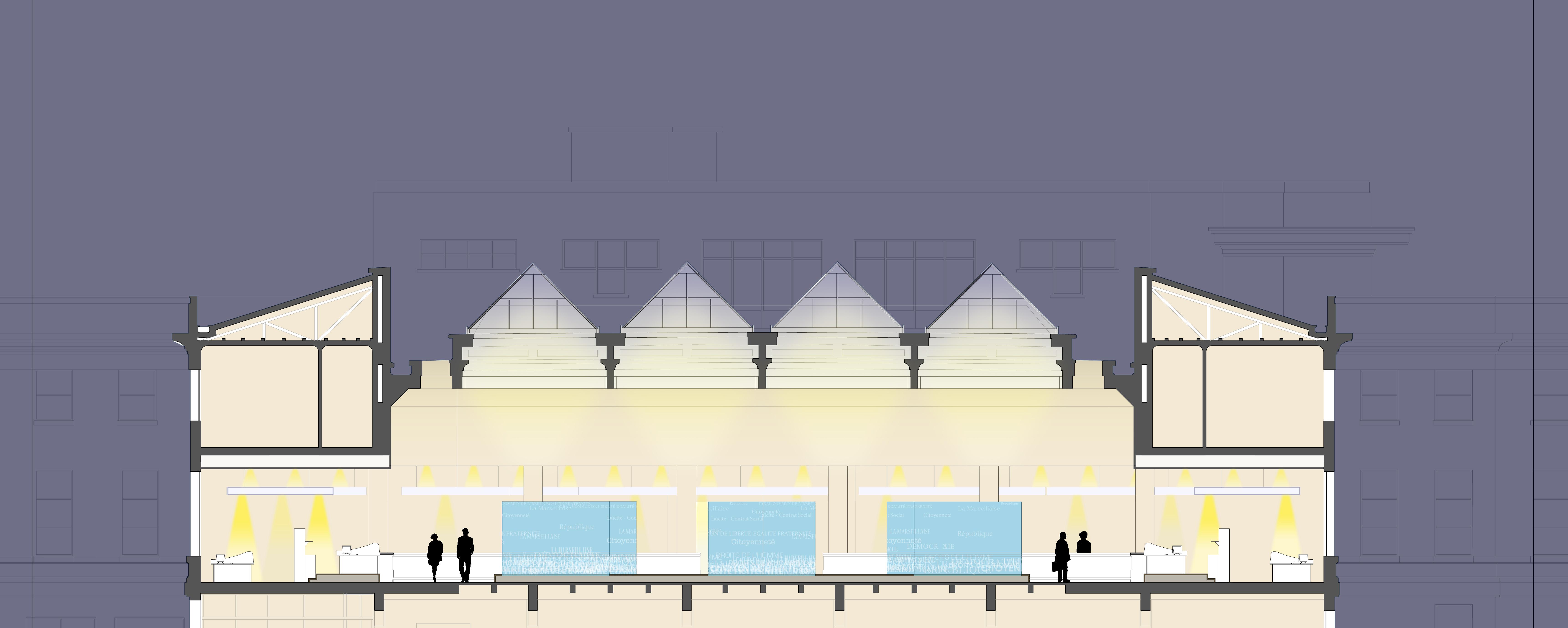 r habilitation du grand hall de l h tel de ville de puteaux atelier architecture bricet. Black Bedroom Furniture Sets. Home Design Ideas